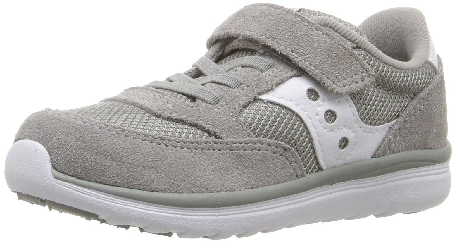 Saucony Baby Jazz Lite Sneaker (Toddler/Little Kid/Big Kid), Grey/White, 9.5 W US Toddler