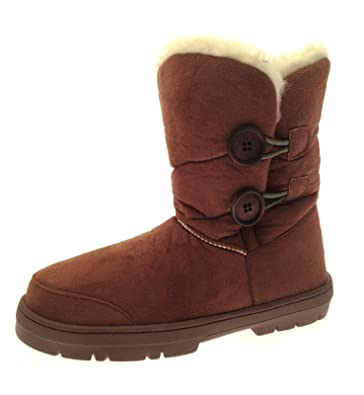 c4daeb50e Ella Lora Dora Womens Faux Fur Sheepskin Snugg Snow Boots  Amazon.co ...