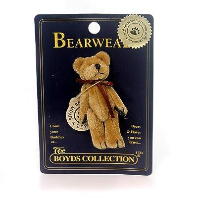 BOYDS BEARS PLUSH Tina F. WUZZIE PIN Fabric Teddy Bear Bearwear 50001.: Toys & Games
