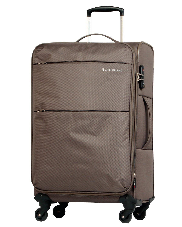[グリフィンランド]_Griffinland TSAロック搭載 スーツケース ソフトタイプ  超軽量 AIR6327(solite) ファスナー開閉式 S型国内国際線機内持込可 5色3サイズ B01ASVUADC S(小)型|カーキ カーキ S(小)型