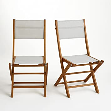 La Redoute Interieurs Chaise de jardin pliante conf. De 2, exodor ...