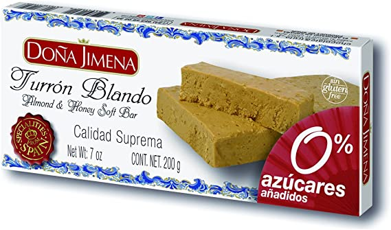 Turrón Blando Almendra Sin Azúcar Doña Jimena 200G: Amazon.es ...
