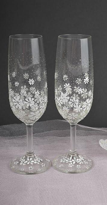Copas de boda artesanales elementos decorativos de cristal regalo original: Amazon.es: Hogar