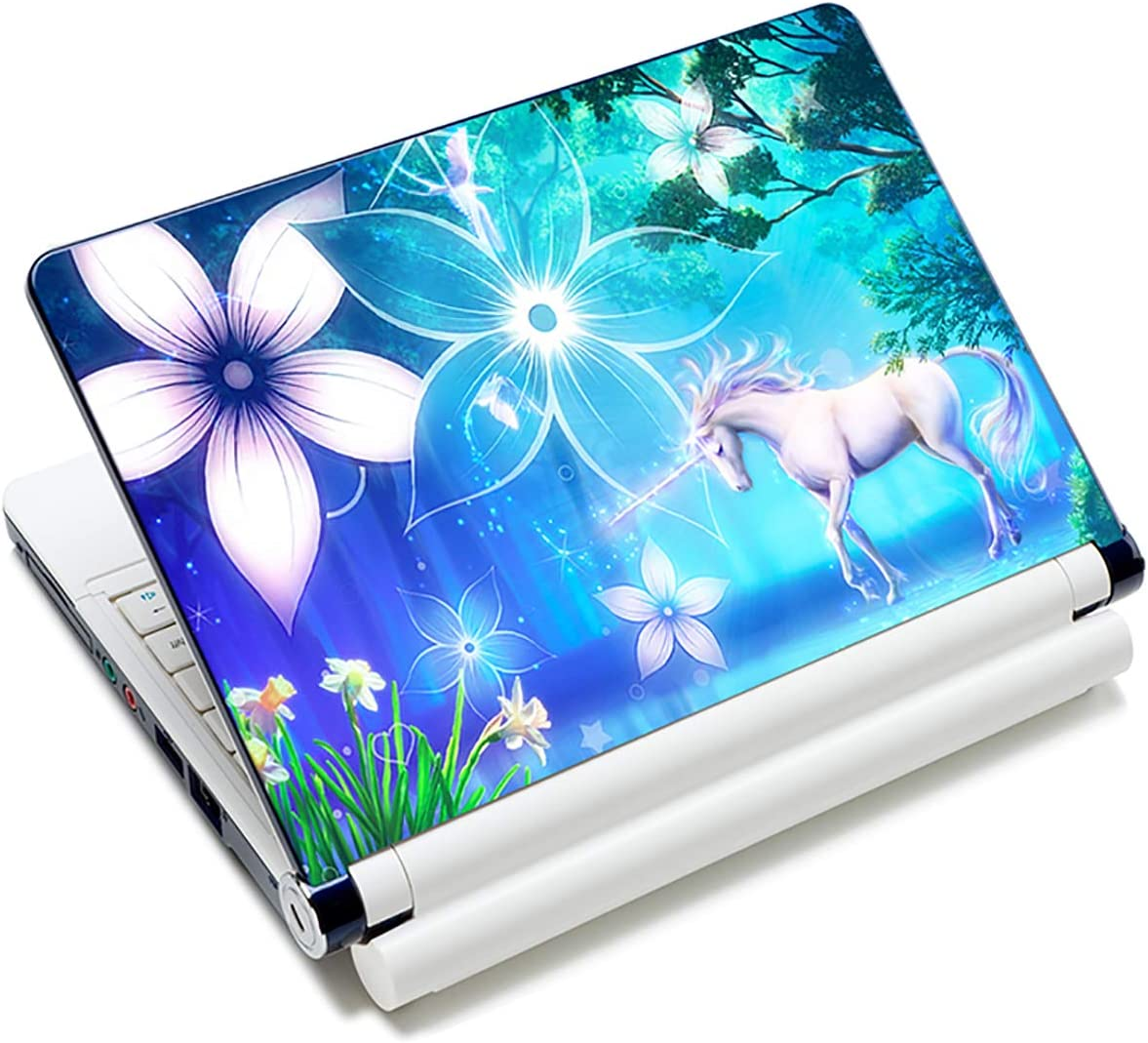"""Laptop Skin Sticker Decal,12"""" 13"""" 13.3"""" 14"""" 15"""" 15.4"""" 15.6"""" Laptop Skin Sticker Protector Cover for Toshiba Hp Samsung Dell Apple Acer Leonovo Sony Asus Laptop Notebook (Cute Unicorn)"""