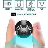 Mini cámara Alfheim 1080P HD WiFi,Incluye Tarjeta SD 32G,Vigilancia de Seguridad inalámbrica