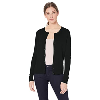 Essentials Women's Lightweight Crewneck Cardigan Sweater: Clothing