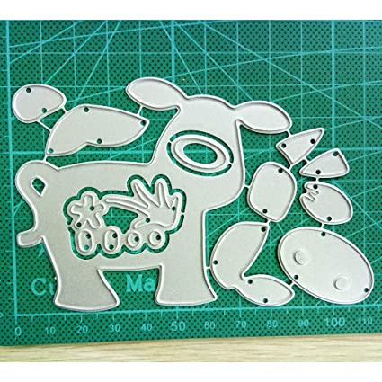 Cartoon Cow Metal Cutting Dies Stencil Scrapbook Paper Card Craft Embossing DIY