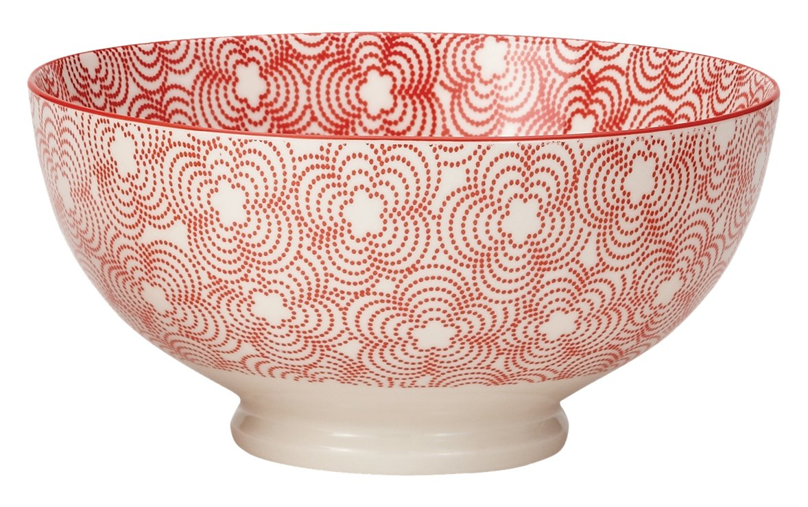 Torre And Tagus Kiri Porcelain 8 Large Bowl - Red W/ Red Trim Torre & Tagus 910550C