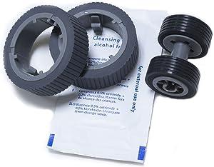 YANZEO PA03670-0001 PA03670-0002 Scanner Brake and Pick Roller Set for Fi-7160 Fi-7180 Fi-7260 Fi-7280 with Clean Wipe