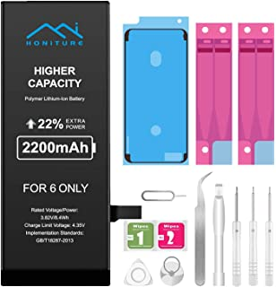 Batería iPhone 6s de Alta Capacidad 2200mAh, Recambio iPhone 6S Bateria y con Kits de Herramientas de Reparación, más 2 * Cintas Adhesiva 1 * Adhesivo de Pantalla e de Manual en