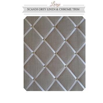 Amazon.com: Tamaño grande gris claro Memo Junta de lino con ...