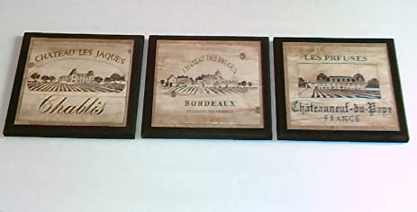 Kitchen Wall Decor Sets Wine Crate Style Plaques Piece Set Kitchen Wall On Diy Bedroom Wall Decor Ideas Kitchen Art Mod
