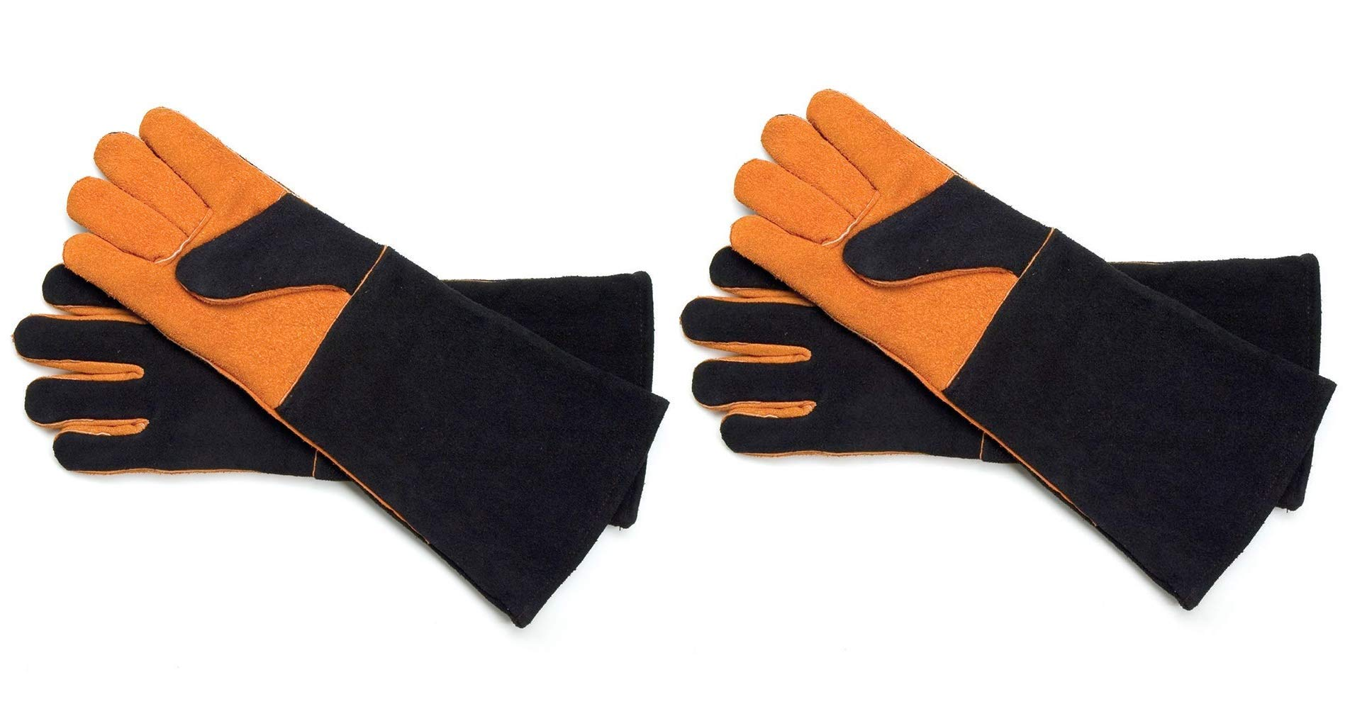 Steven Raichlen Best of Barbecue Extra Long Suede Grill Gloves (Pair) - SR8038 (Тwo Рack)