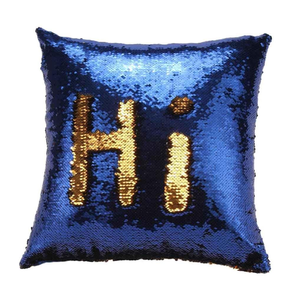 Celendi Cushion Covers Throw Pillow Covers for Couch Sofa Home Decor DIY Two Tone Glitter Sequins Throw Pillows Sam