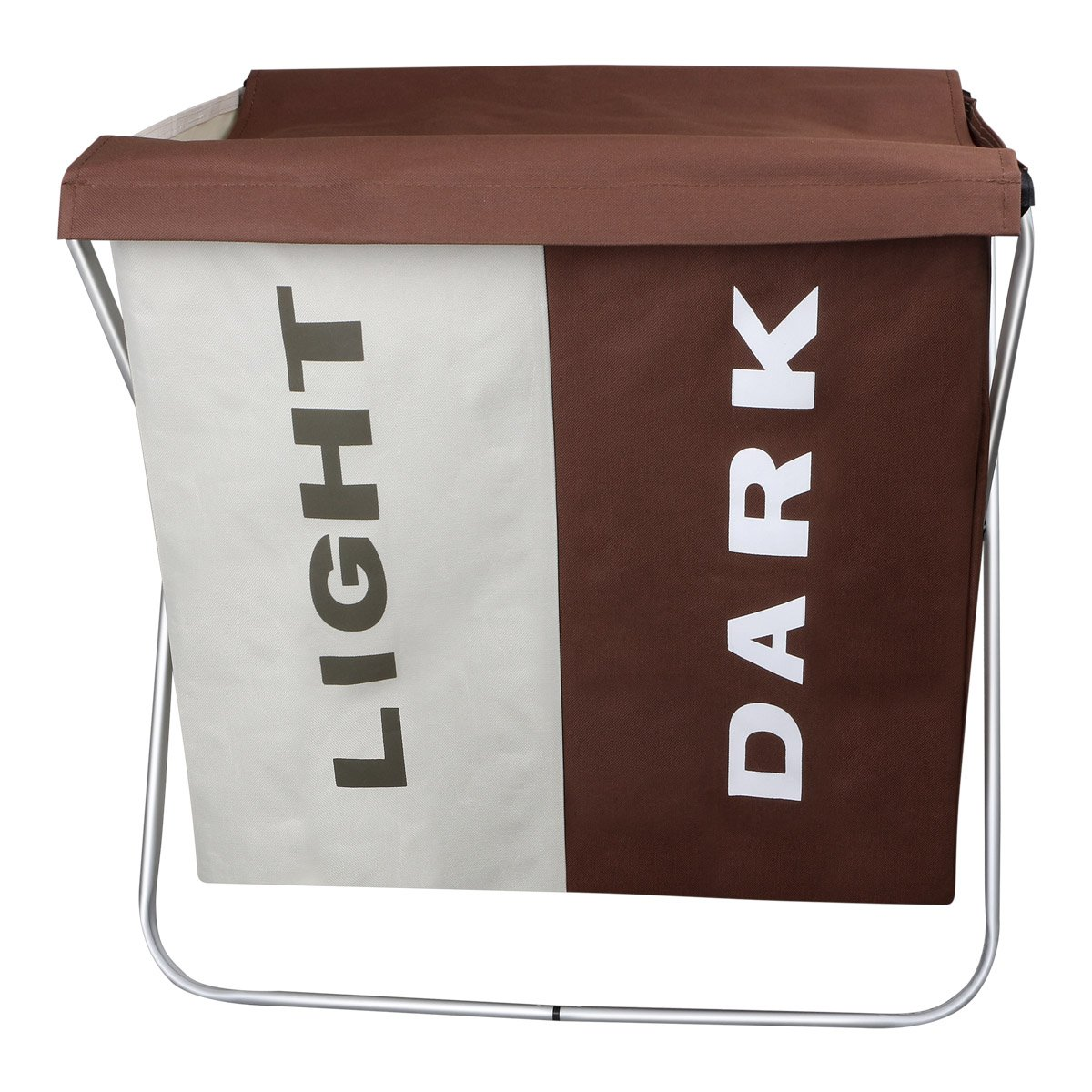 WIFUME Light and Dark Home Double Laundry Basket with Lid 22.8