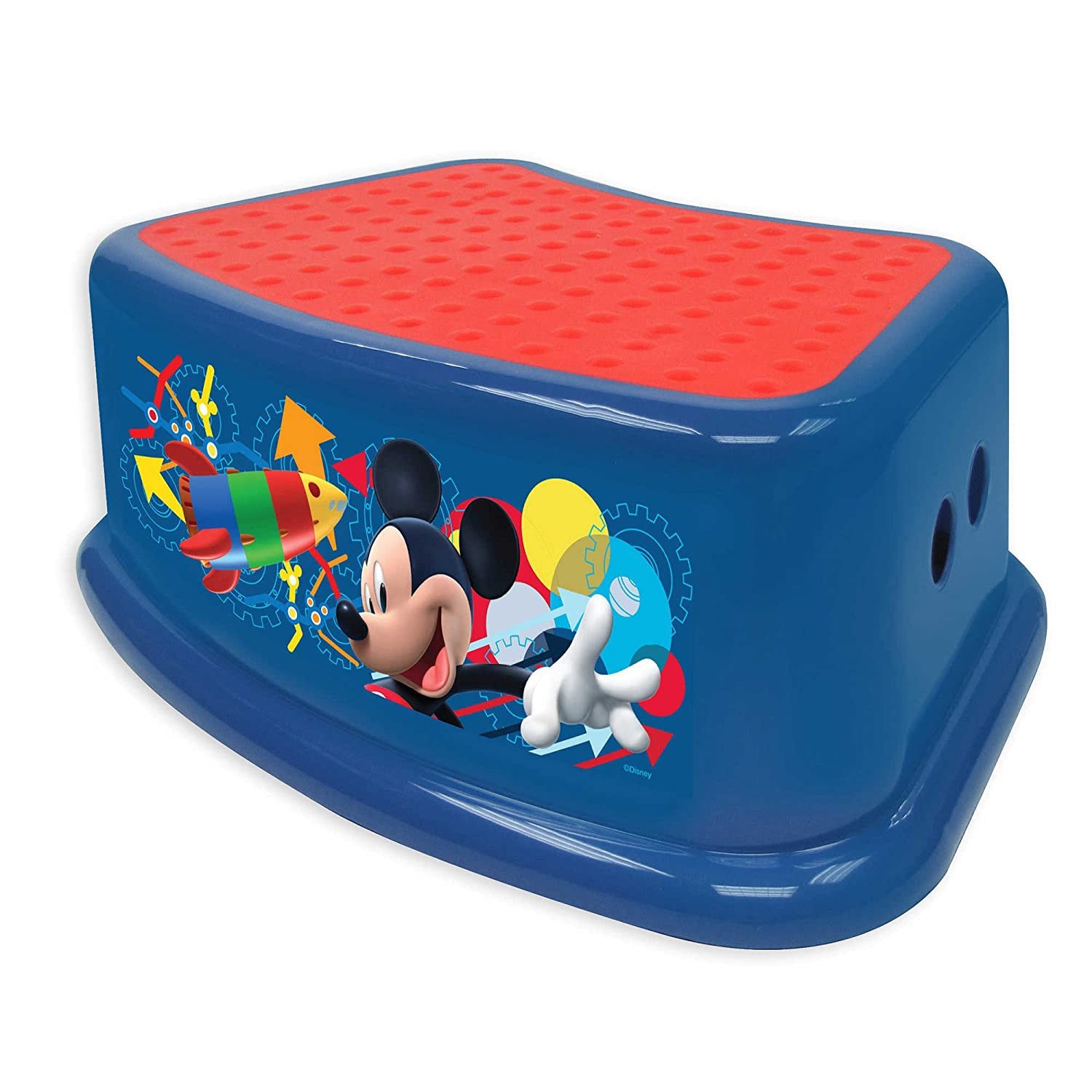 14.25' L x 9.25' W x 5.5' H Disney Mickey house Capers Step Stool in Blue Ginsey Home Solutions
