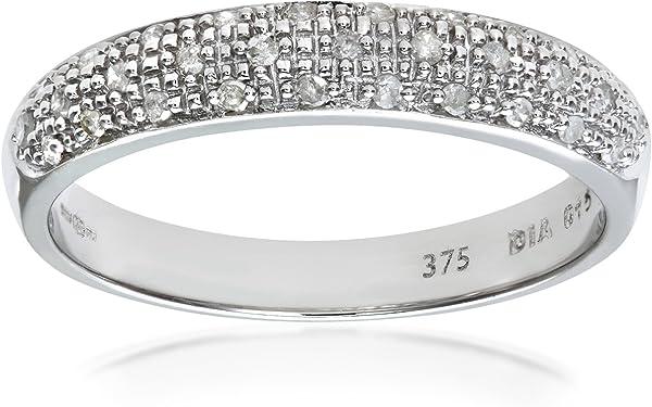 anillo oro blanco con matriz de diamantes