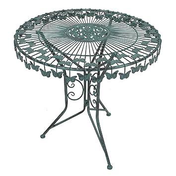 Amazon.de: Garten Tisch rund Metall XL Beistelltisch Vintage Look ...