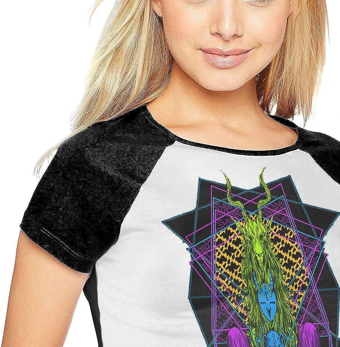 SheyAnsh Mars Volta Women Raglan Short Sleeve Casual Print T-Shirts Baseball Blouses
