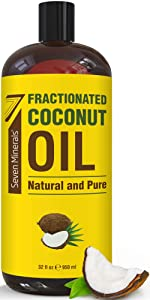 NEW Pure Fractionated Coconut Oil - Big 32 fl oz Bottle - Non-GMO, 100% Natural, Lightweight Massage Oil for Massage Therapy on Skin, Hair, More - Perfect Carrier Oil for Essential Oils