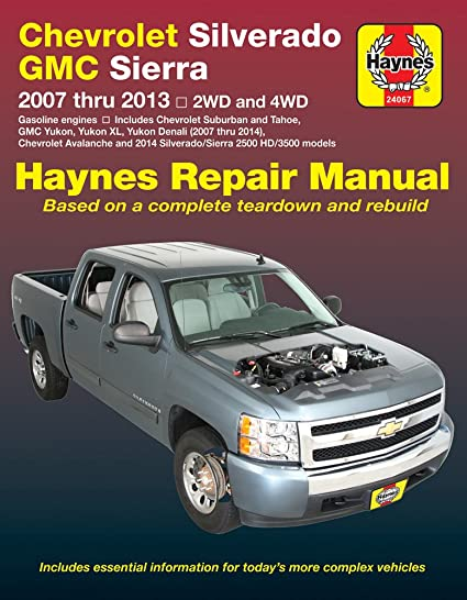 amazon com haynes 24067 chevy silverado gmc sierra repair manual rh amazon com Haynes Repair Manuals PDF Haynes Repair Manual 1991 Honda Civic