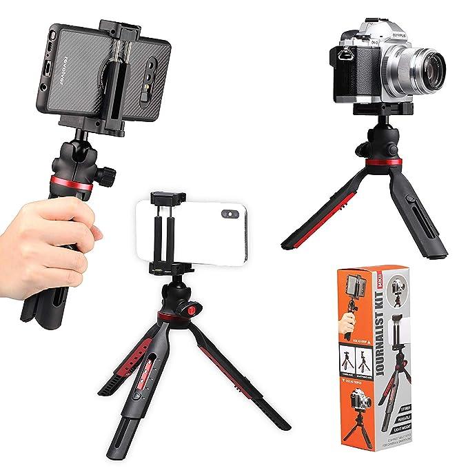 new styles 655ef 23536 Ztylus Journalist Mini Tripod Kit Smartphone Stabilizer Rig, Hand Grip,  Table Tripod, Rotatable Ball Head, Adjustable Leg, Bubble Level, DSLR ...
