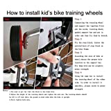 LOOYUAN Children's Bicycle Training Wheels 12 14 16 18 20 Inch,Universal Kids Bike Stabiliser