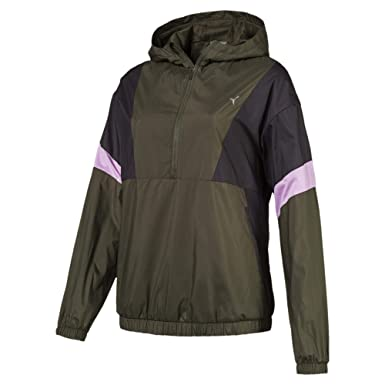 Puma Training Damen A.C.E. Half Zip Kapuzenjacke Forest