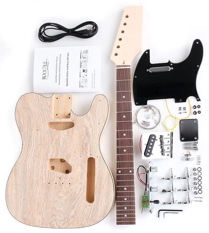 Rocktile DIYTL - Kit completo montaje de guitarra eléctrica tipo TL