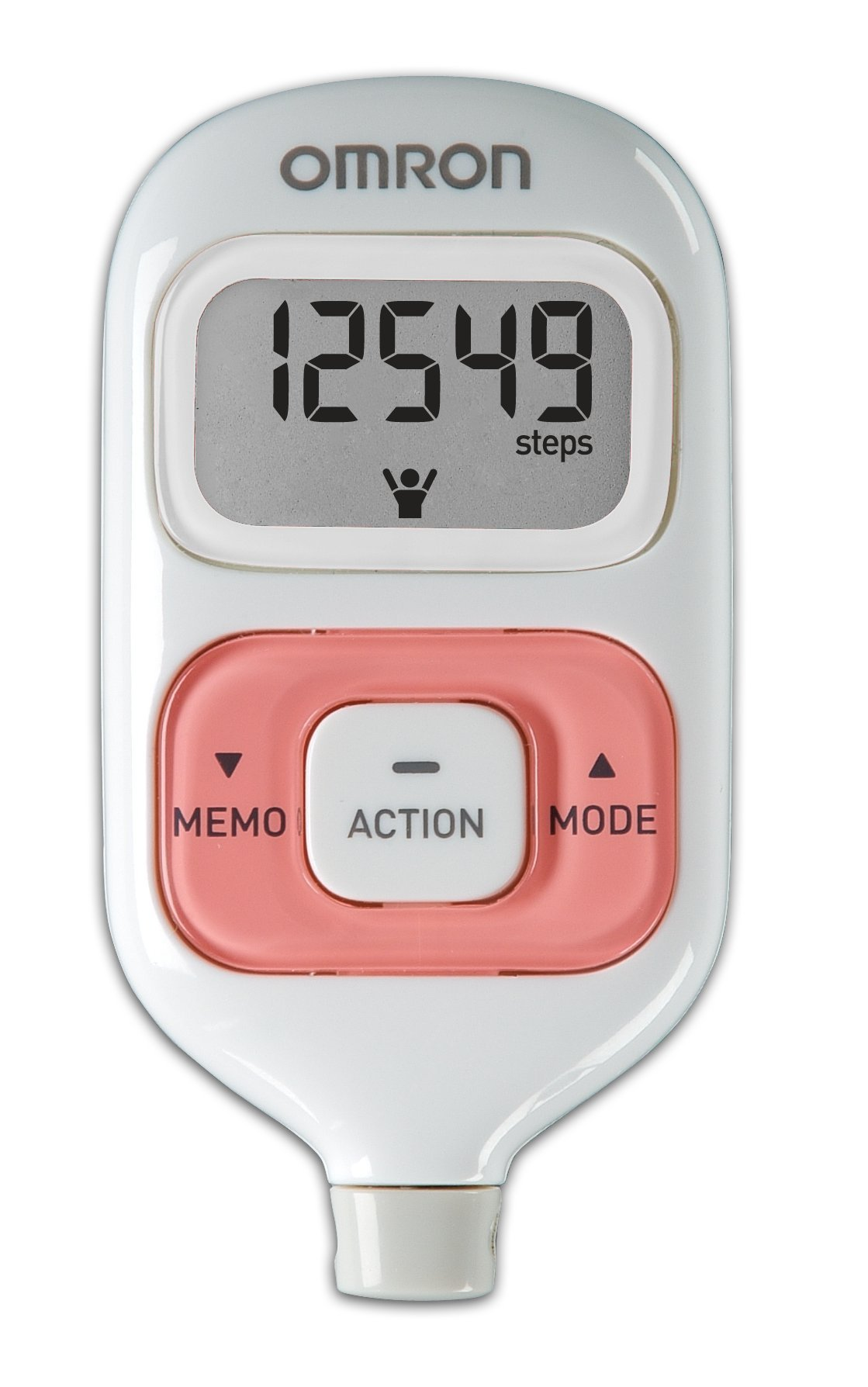 Omron Hj-203pk Activity Tracker, White W/Pink