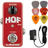 TC Electronic Hall of Fame Mini Reverb Bundle with 9V Power Supply and 6 Assorted Dunlop Picks