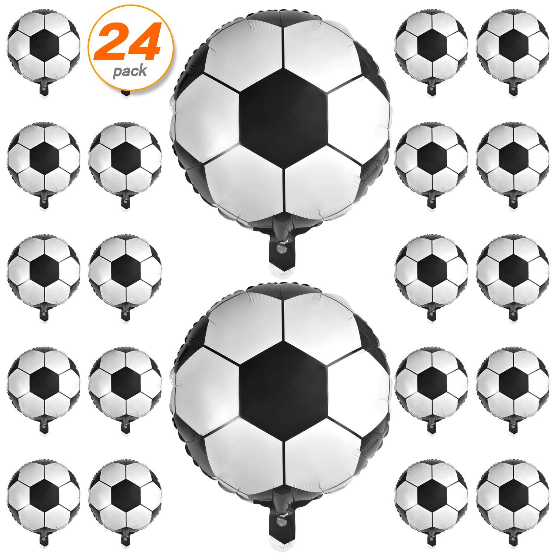 24 globos de balón de fútbol de 18 pulgadas, globos de aluminio de ...