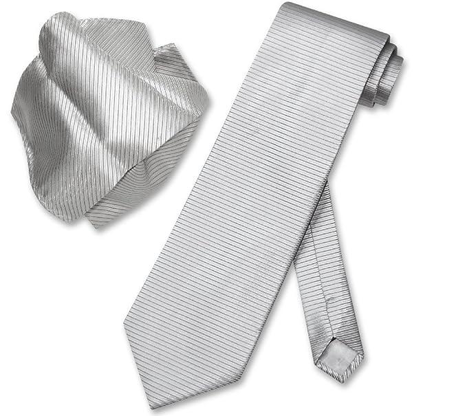 43b83f84d9ef Image Unavailable. Image not available for. Color: Antonio Ricci NeckTie  Handkerchief Silver ...