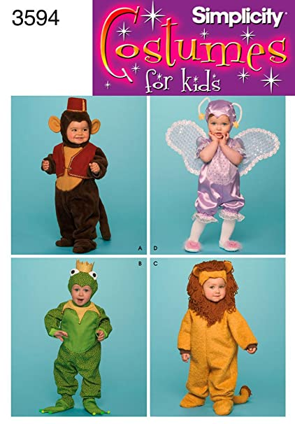 Amazon.com: Simplicity Sewing Pattern 3594 Toddler Costumes, A (1/2 ...