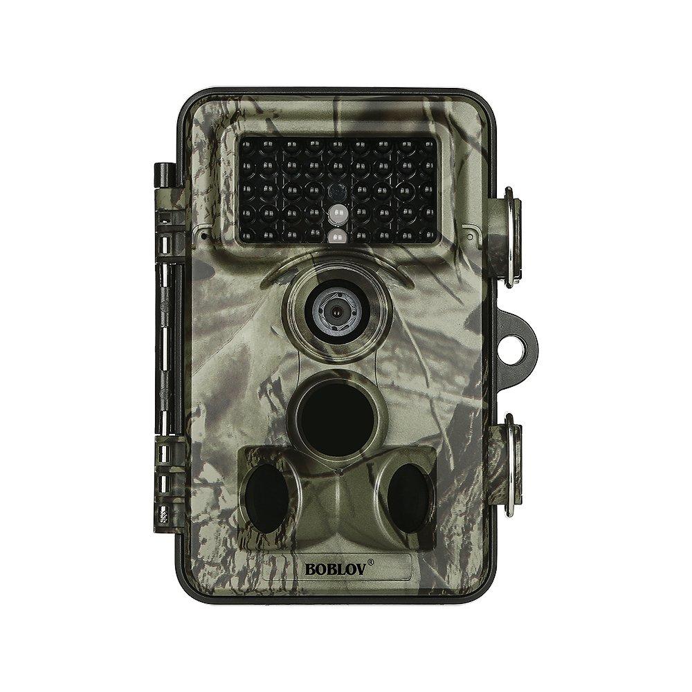 Boblov Cámara de Caza Vigilancia 16MP 1920x1080P 30fps HD 2.4'' LCD Pantalla Trail Cámara con 42pcs IR LEDs Visión Nocturna Infrarroja IP66 Impermeable y 120 Ángulo Amplio Sensor de Movimiento China OEM