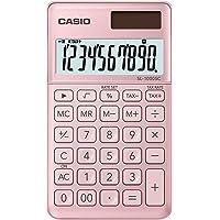 Casio SL-1000SC-PK 10-stelliges BIG LC-Display mit Rechenbefehl-Anzeige, Taschenrechner, in sechs Farbvarianten