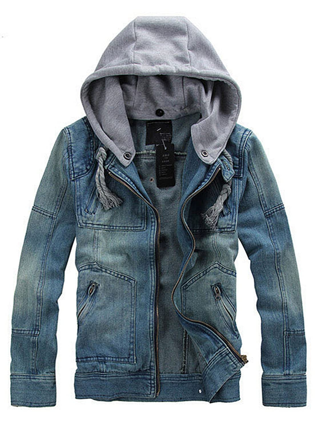MINID Men's Casual Fashion Denim Jacket (MIDKQ16)
