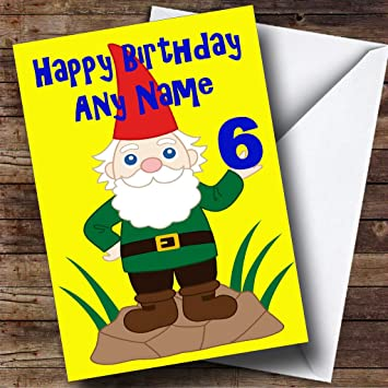 Funny Gnome Personalised Birthday Card Amazon Office Products