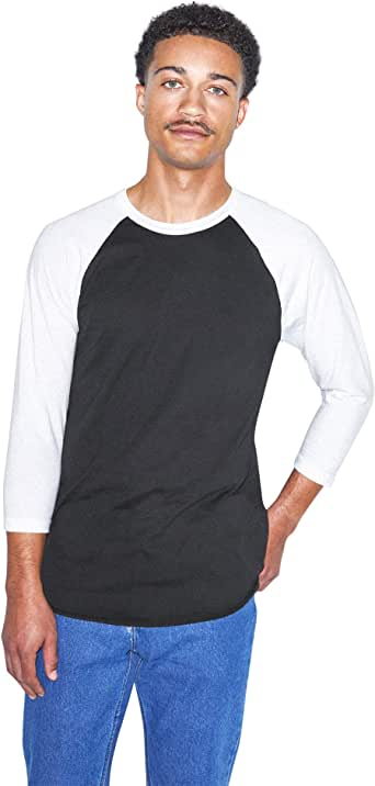 American Apparel 50/50 Raglan 3/4 Sleeve T-Shirt, 2-Pack
