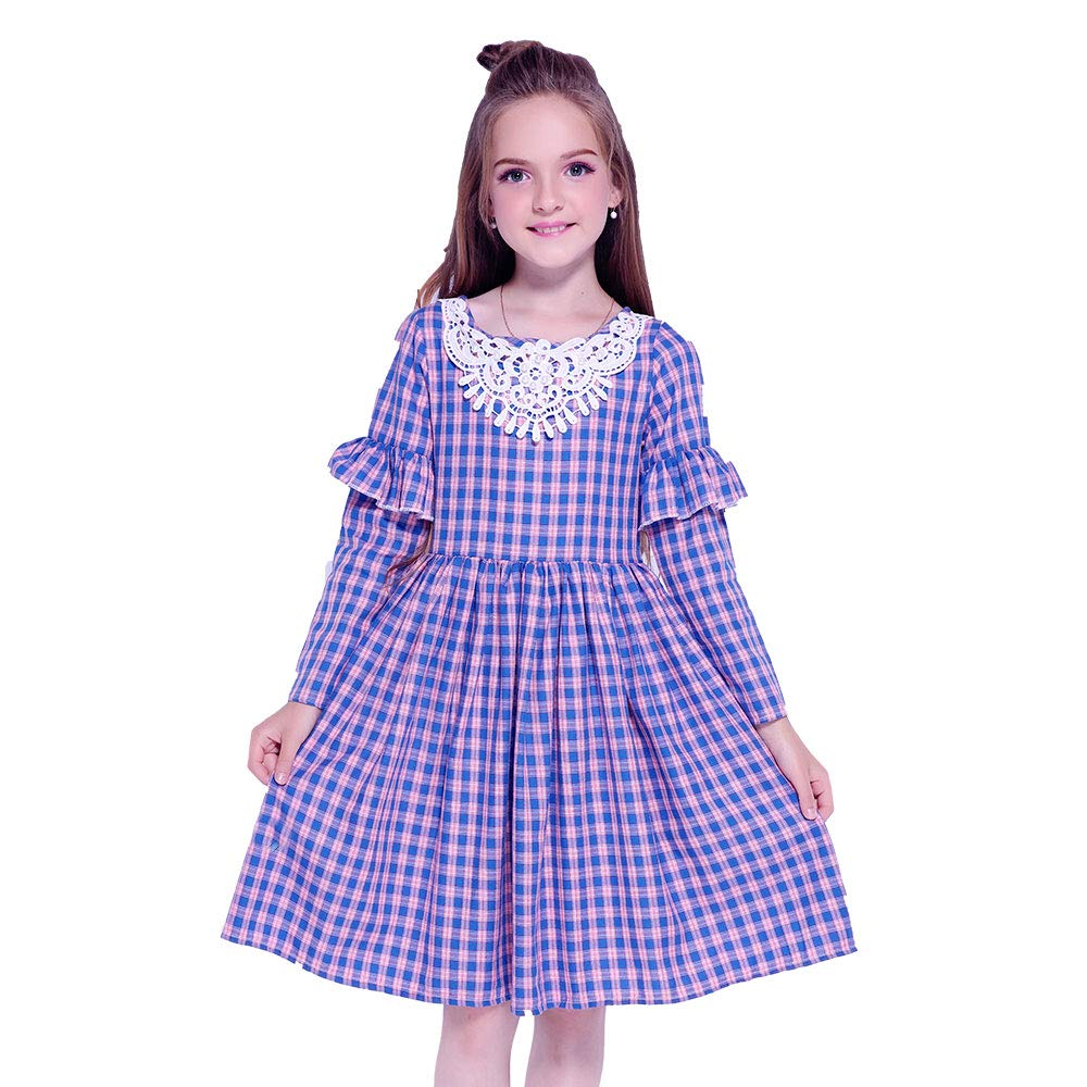 Victorian Kids Costumes & Shoes- Girls, Boys, Baby, Toddler Kseniya Kids Clothes Baby Girls Dress Long Sleeve Cotton Flower Princess Girl Party Dress $15.70 AT vintagedancer.com