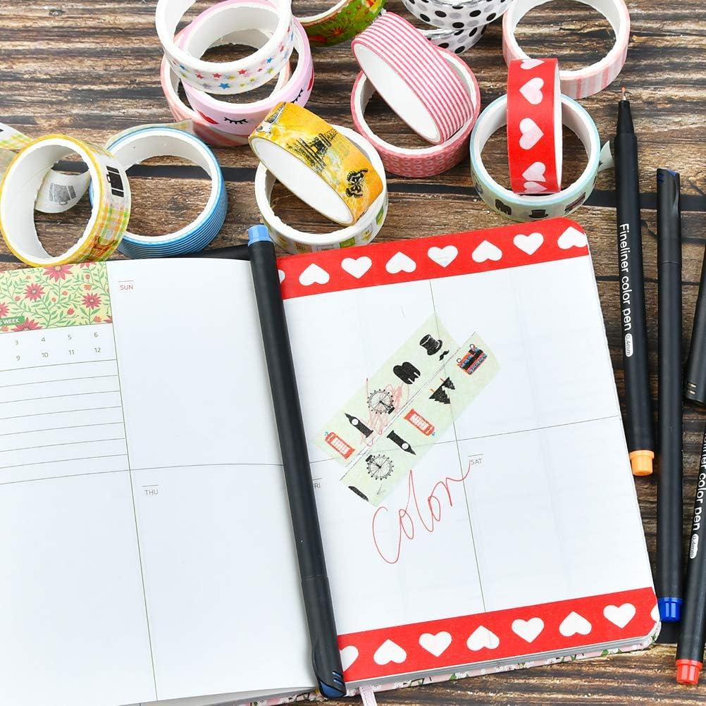 60 Rollos de Cintas Adhesivas Decorativas,Cinta de Papel Japon/és,Cintas Adhesivas Decorativas de Color,Papel para Manualidades,/Álbumes de Recortes,DIY,Suministros para Fiestas,1,5 cm x 3m