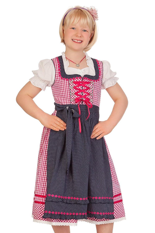 Trachten Kinderdirndl 3tlg. - FLORENTINE - pink