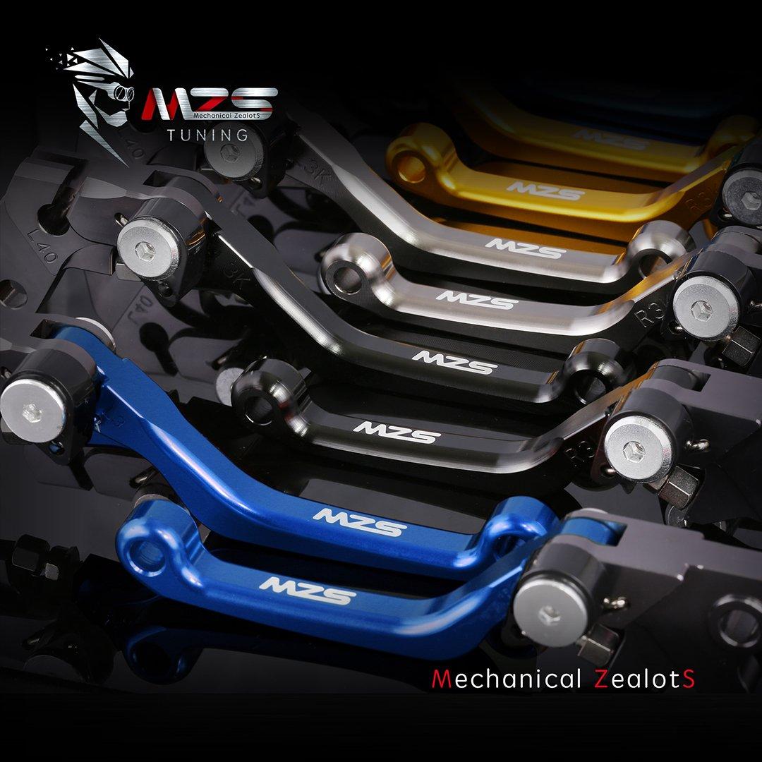 MZS Pivot Levers Brake Clutch CNC for Yamaha YZ125 YZ250 YZ426F YZ450F 2001-2007// YZ250F 2001-2006 Blue