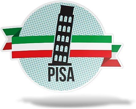 cm 10 erreinge Sticker Italia Adesivo Sagomato in PVC per Decalcomania Parete Murale Auto Moto Casco Camper Laptop