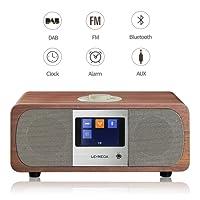LEMEGA M3 Hi-Fi Music System (2.1 stereo) And Wireless Speaker With DAB, DAB+, FM Radio, Bluetooth, Clocks, And Alarms - Walnut
