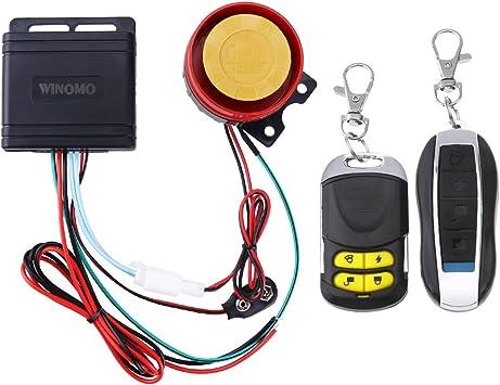 WINOMO Universal Motorcycle Bicycle Wheel Disc Brake Lock Safety Alarm Anti Theft Lock Orange