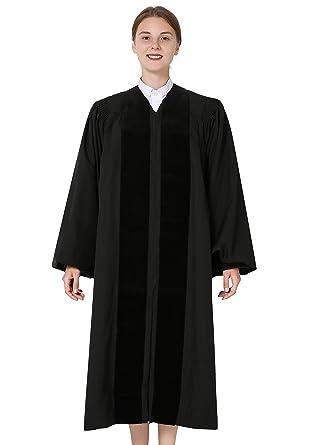 IvyRobes Geistliche Talar John Wesley Robe für Kanzel schwarz ... 1af184a9fe