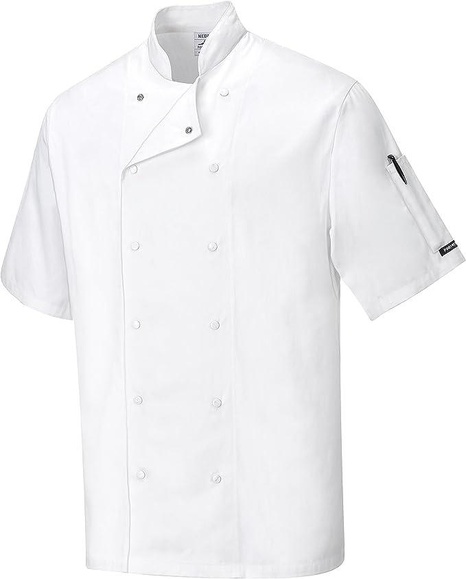 Small blanc Portwest C774 Aberdeen Veste de cuisine