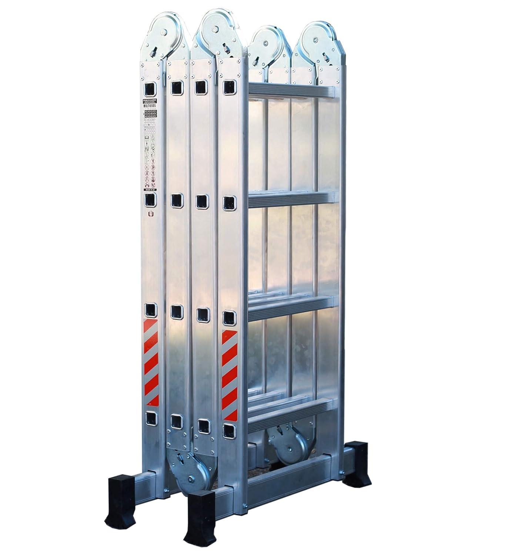 Nawa 15.4 FT Multi-Purpose Aluminium Ladder 4x4. Holds up to 150 kg Made in Europe