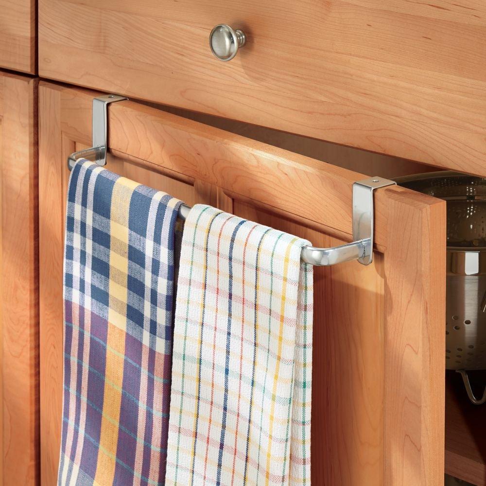 InterDesign Axis Colgador de toallas | Práctico organizador de toallas | Toallero de baño y cocina para puertas | Metal plateado: Amazon.es: Hogar